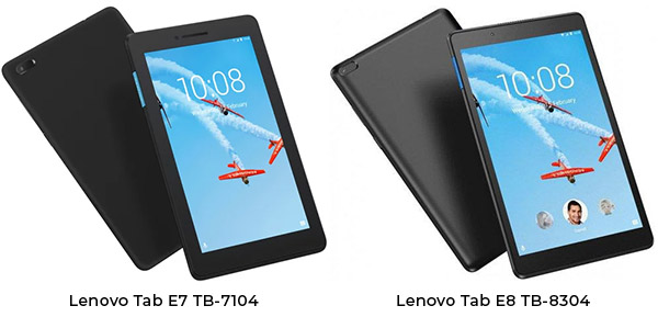 Lenovo Tab E7 и Tab E8