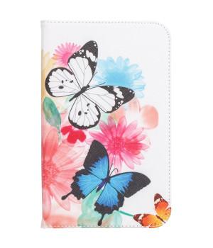 Чехол Galeo Classy Printed Stand для Samsung Galaxy Tab 3 Lite 7.0 SM-T110, SM-T111, SM-T113, SM-T116 Butterflies