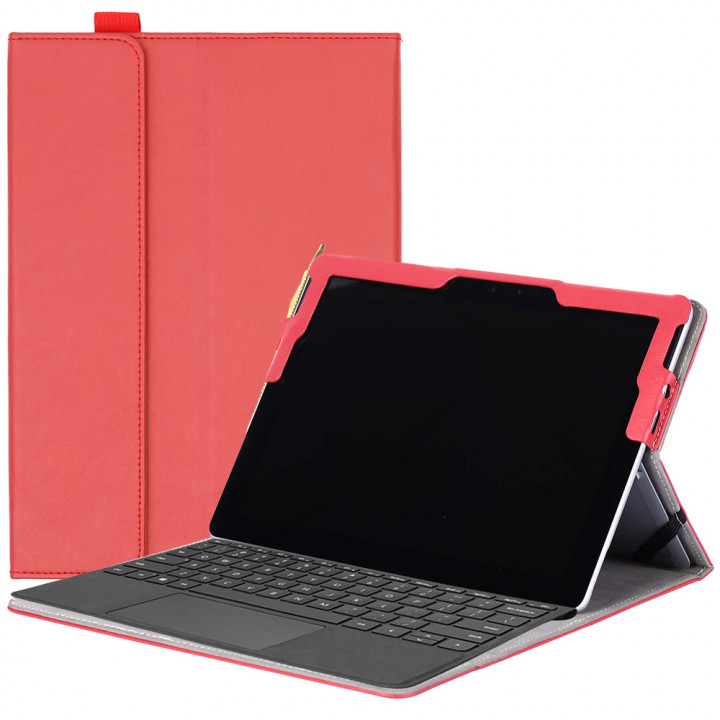 Чехол Galeo SlimBook для Microsoft Surface Go Red