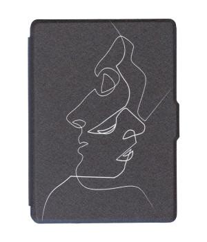 Обложка Galeo Slimline Print для Amazon Kindle Paperwhite Faces Black