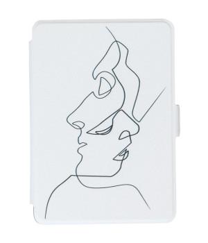 Обложка Galeo Slimline Print для Amazon Kindle Paperwhite Faces White