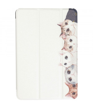 Чехол Galeo Printed Trifold для Apple iPad mini 5 (2019) White Cats