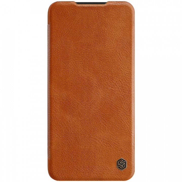 Кожаный чехол-книжка Nillkin Qin Leather Series для Xiaomi Redmi Note 8 Pro Brown