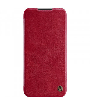 Кожаный чехол-книжка Nillkin Qin Leather Series для Xiaomi Redmi Note 8 Red