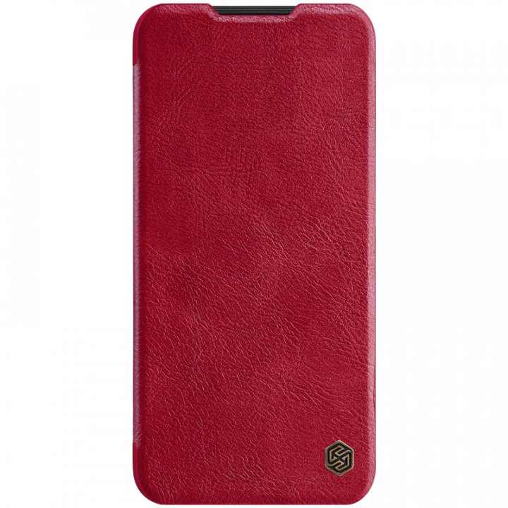 Кожаный чехол-книжка Nillkin Qin Leather Series для Xiaomi Redmi Note 8 Red