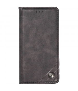 Чехол-книжка Galeo Leather Wallet для Xiaomi Redmi Note 8 Grey