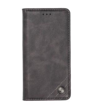 Чехол-книжка Galeo Leather Wallet для Xiaomi Redmi Note 8 Pro Grey