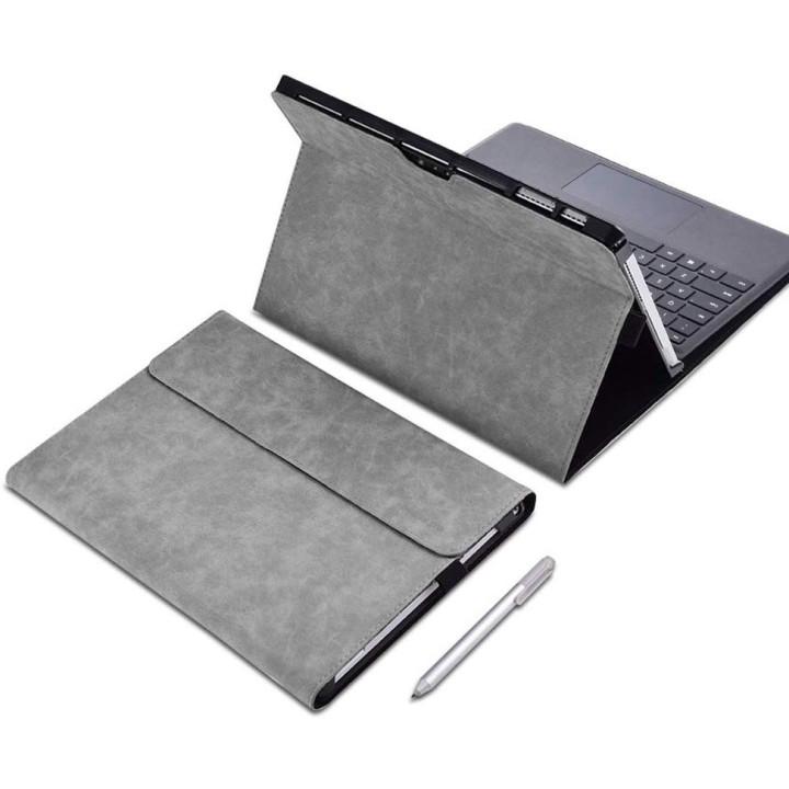 Чехол Galeo Premium Portfolio для Microsoft Surface Pro 4/5/6/7 Grey