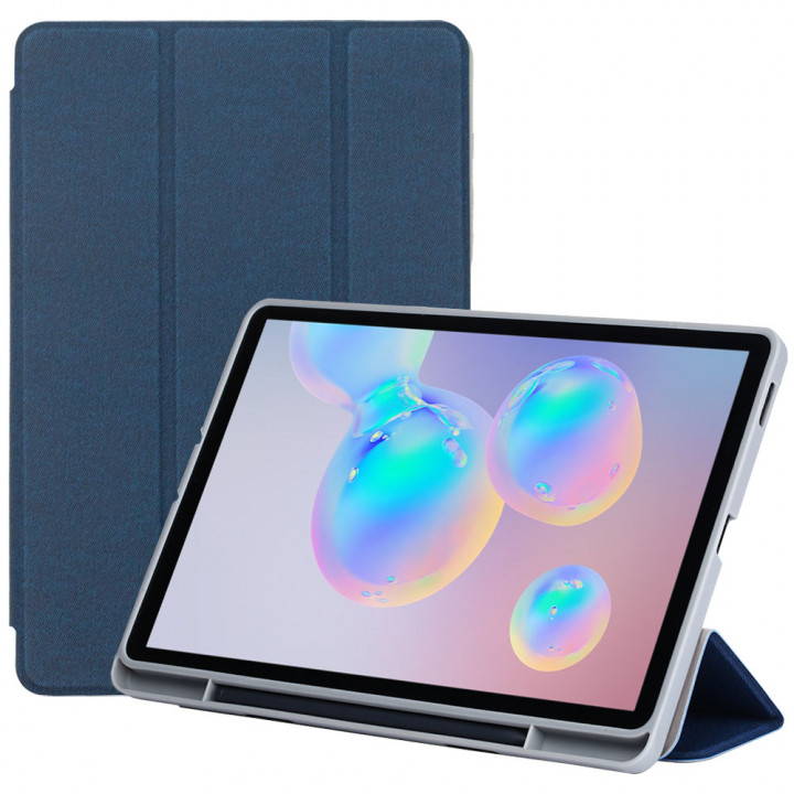 Чехол TPU Trifold with S-Pen Holder для Samsung Galaxy Tab S6 Lite SM-P610, SM-P615 Dark Blue