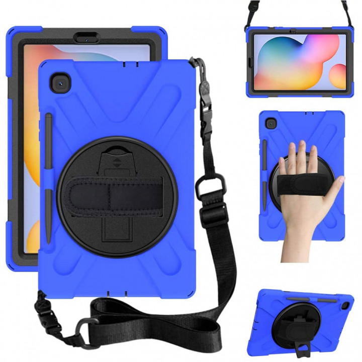 Противоударный чехол Galeo Heavy Duty для Samsung Galaxy Tab S6 Lite SM-P610, SM-P615 Navy Blue