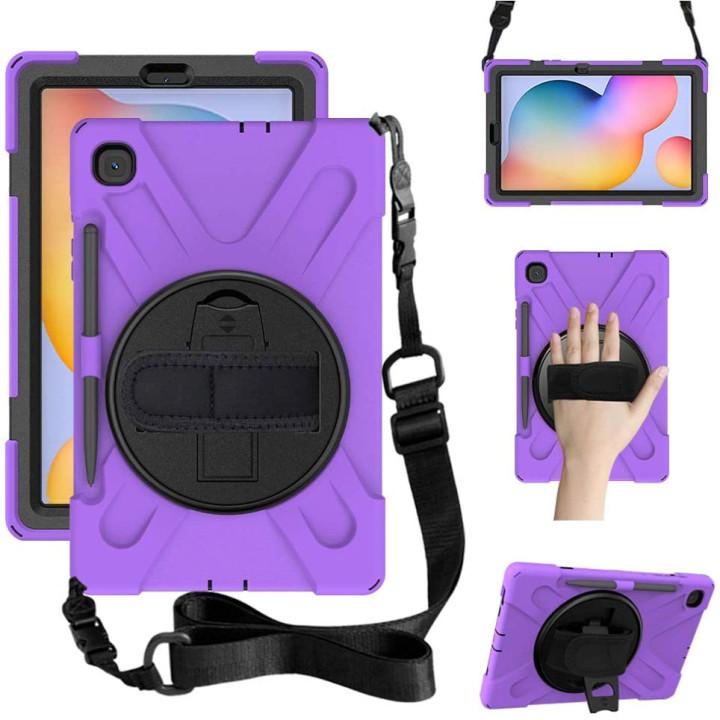 Противоударный чехол Galeo Heavy Duty для Samsung Galaxy Tab S6 Lite SM-P610, SM-P615 Purple