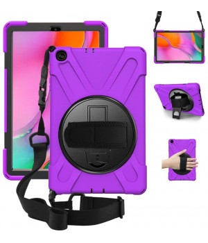 Противоударный чехол Galeo Heavy Duty для Samsung Galaxy Tab A 10.1 (2019) SM-T510, SM-T515 Purple