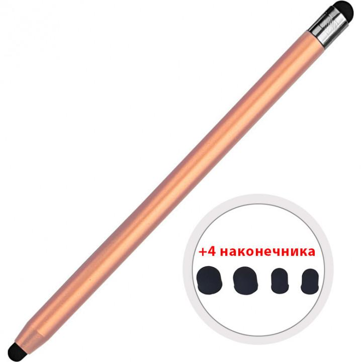 Стилус для смартфона / планшета Galeo 2 Tips (8mm + 4 mm) Rose Gold