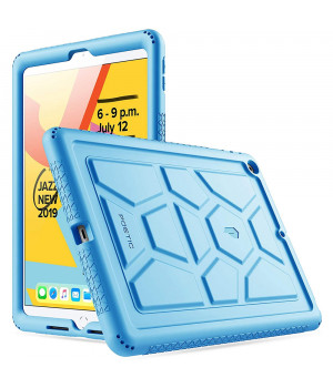 """Противоударная накладка Poetic TurtleSkin для Apple iPad 9/8/7 10.2"""" (2021/2020/2019) Blue"""