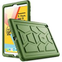"""Противоударная накладка Poetic TurtleSkin для Apple iPad 9/8/7 10.2"""" (2021/2020/2019) Olive"""
