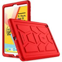 """Противоударная накладка Poetic TurtleSkin для Apple iPad 9/8/7 10.2"""" (2021/2020/2019) Red"""