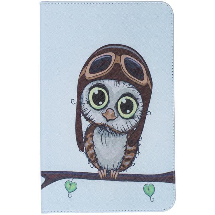 Чехол Galeo Classy Printed Stand для Samsung Galaxy Tab E 9.6 SM-T560, T561 Aviator Owl