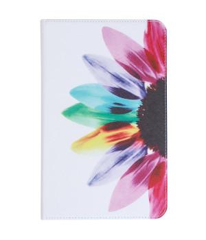 Чехол Galeo Classy Printed Stand для Samsung Galaxy Tab E 9.6 SM-T560, T561 Flower