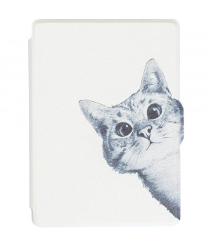 Обложка Galeo Slimline Print для Amazon Kindle 6 2016 Funny Cat White