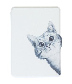 Обложка Galeo Slimline Print для Amazon Kindle Paperwhite Funny Cat White