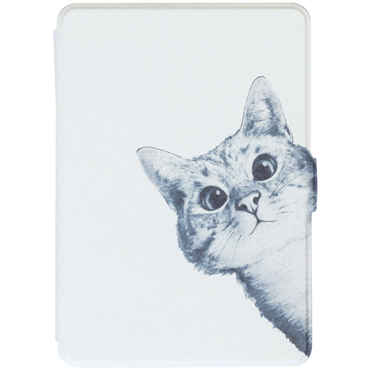 Обложка Galeo Slimline Print для Amazon Kindle Paperwhite Funny Cat White
