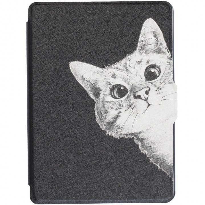 Обложка Galeo Slimline Print для Amazon Kindle 6 2016 Funny Cat Black